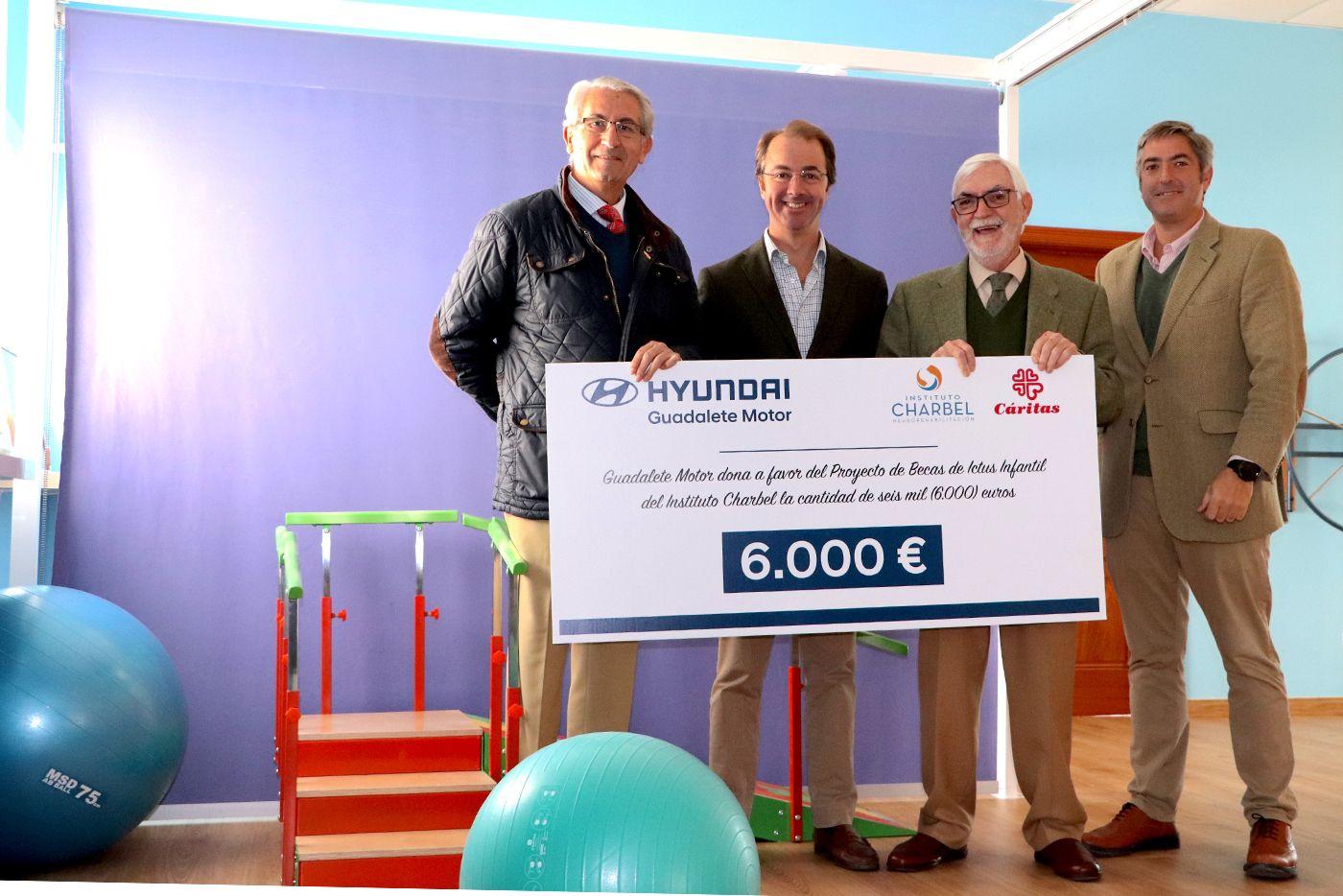 Guadalete Motor Hyundai dona 6.000 euros a las Becas Ictus Infantil