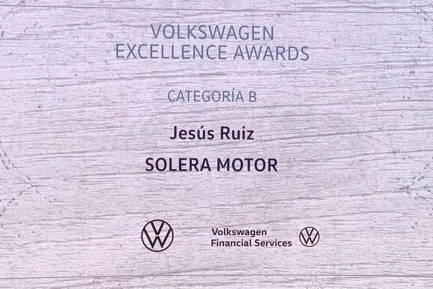 Solera Motor Volkswagen turismos vuelve a ser galardonado Volkswagen Excellence Awards